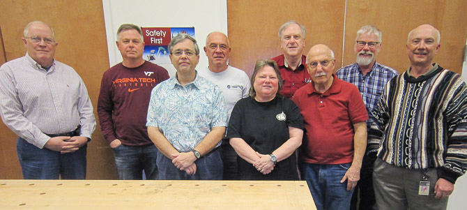 The 2017 Board, from left: Bill King, Cody Walker, Stan VanDruff, Dan Luttrell, Georgia Wood, Bruce Robbins, Bob Marchese, John Anderson, Chuck Bajnai