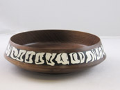 Bob Silkensen - Walnut Bowl with Epoxy Inlay