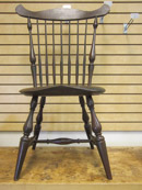 Bill Jenkins - White Pine, Maple, Red Oak Windsor Chair, Milk Paint Finish